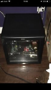 Glass front mini fridge (wine and other)