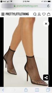 Fishnet sock Boots size 9