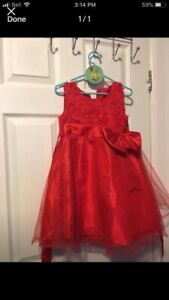 Cute red dress size 5