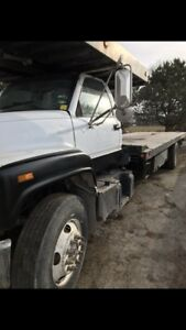 C7500 topkick flatbed tow truck 3 car carrier