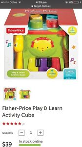 Fisher Price Play and Learn Activity Cube Craigie Joondalup Area Preview