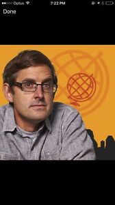 Swap 1 X Louis Theroux Ticket on Wednesday 28 Sept for Tuesday 27 Sept Woollahra Eastern Suburbs Preview