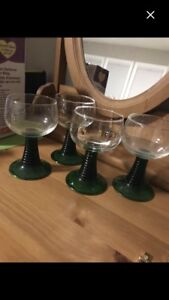 Antique 4 Schmitt Sohne Glasses Made in W. Germany