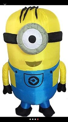 Inflatable Minion Costume for Partys Halloween Themes Kids Funny Tall-US Seller!