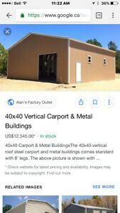 Wanted to buy  40x40 steel building package