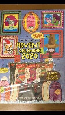 Trader Joe's Chocolate 2020 Holiday Advent Calendar Christmas, free shipping