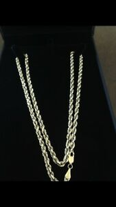 10k gold rope chain 24inch
