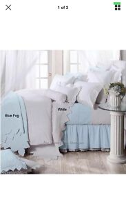 Hampton French Country queen size bed quilt cover & pillow slips