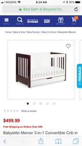Mercer 3-in-one crib to toddler bed