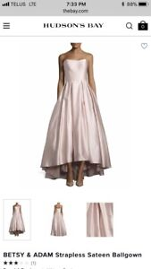 Betsey & Adam Blush Pink Bridesmaid or Prom Dress Size 8