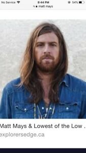 MATT MAYS TICKETS