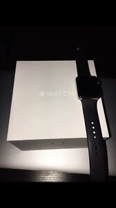 Apple Watch 42mm Stainless Steel w/ Black Sports Band Moama Murray Area Preview