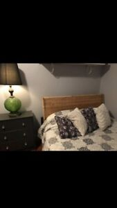 Double frame IKEA bed frame and mattress