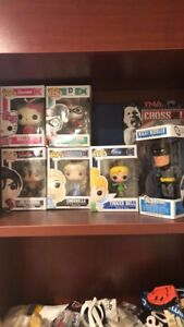 5 Funko POP Figures + Batman Bobble Head