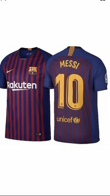 2573fde8621 Barcelona 2018-19 Home Jersey Messi 10 Size M