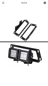 Duel led lights with mount and wiring
