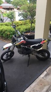 150cc DHZ pitbike Collinswood Prospect Area Preview