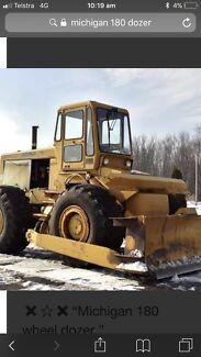 Wanted: Wanted Michigan wheel bulldozer