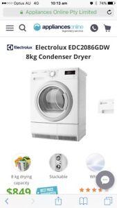 Electrolux 8kg condenser Dryer- Harvey Norman