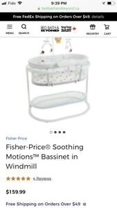 New Fisher-Price® Soothing Motions™ Bassinet in Windmill.