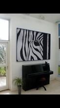 Zebra canvas painting for sale Coorparoo Brisbane South East Preview