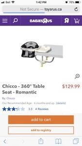 Chicco 360 Table Chair
