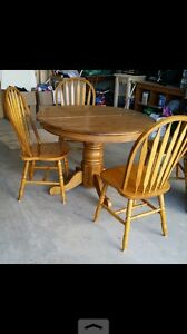 pedestal dining table & chairs. AVAILABLE