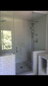 Custom Glass shower doors enclosures decks glass railing stairs