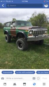 79 ford bronco  lifted