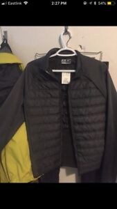 Brand new mens rbx down jacket and old navy shorts