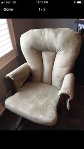 Baby nursing rocking chair with foot stool