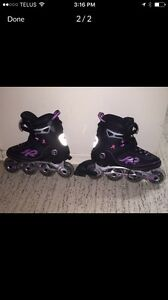 Ladies size 10 rollerblades