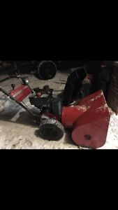 Master craft 10hp snowblower with chains