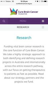 Small donations wanted to support The Cure Brain Cancer Foundation Miepoll Strathbogie Area Preview