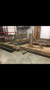 Barn beams and other 100 year old lumber