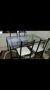 Glass top dinning table