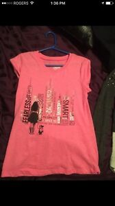 Size 8-10 girl justice shirts