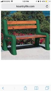 Bench ends. Durable plastic