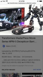 New transformers masterpiece police