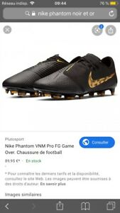 nike phantom noir et or