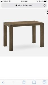 Structube counter height dining table and stools