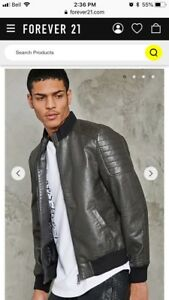 Men's Forever 21 Faux Leather Jacket