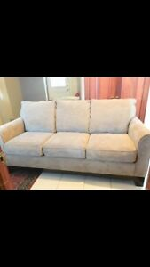 Full Size Couch ($300) and Sofa Chair ($150) - both 1 year old