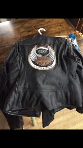 Women's  105th anniv. Harley Davidson leather jacket and chaps