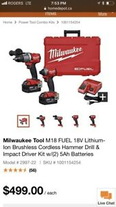 Milwaukee m8 FUEL Hammer drill and impact kit