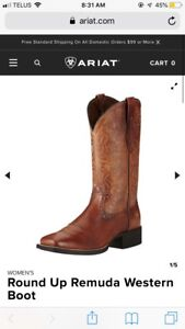 Round up remuda cowgirl boots