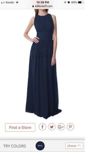 $100—Size 6,  Bridesmaid Dress (Navy)