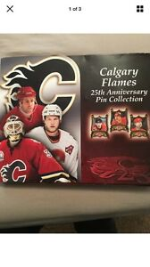 Calgary Flames 25th Anniversary Pin Collection
