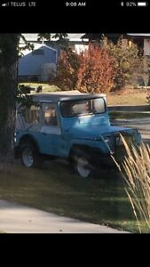 1946 Willy's CJ2A, with snow plow runs, drives NEED GONE