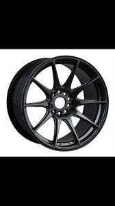 "Subaru Mitsubishi 18"" xxr 527 chromium black 225/40r18 Tyres Rockdale Rockdale Area Preview"